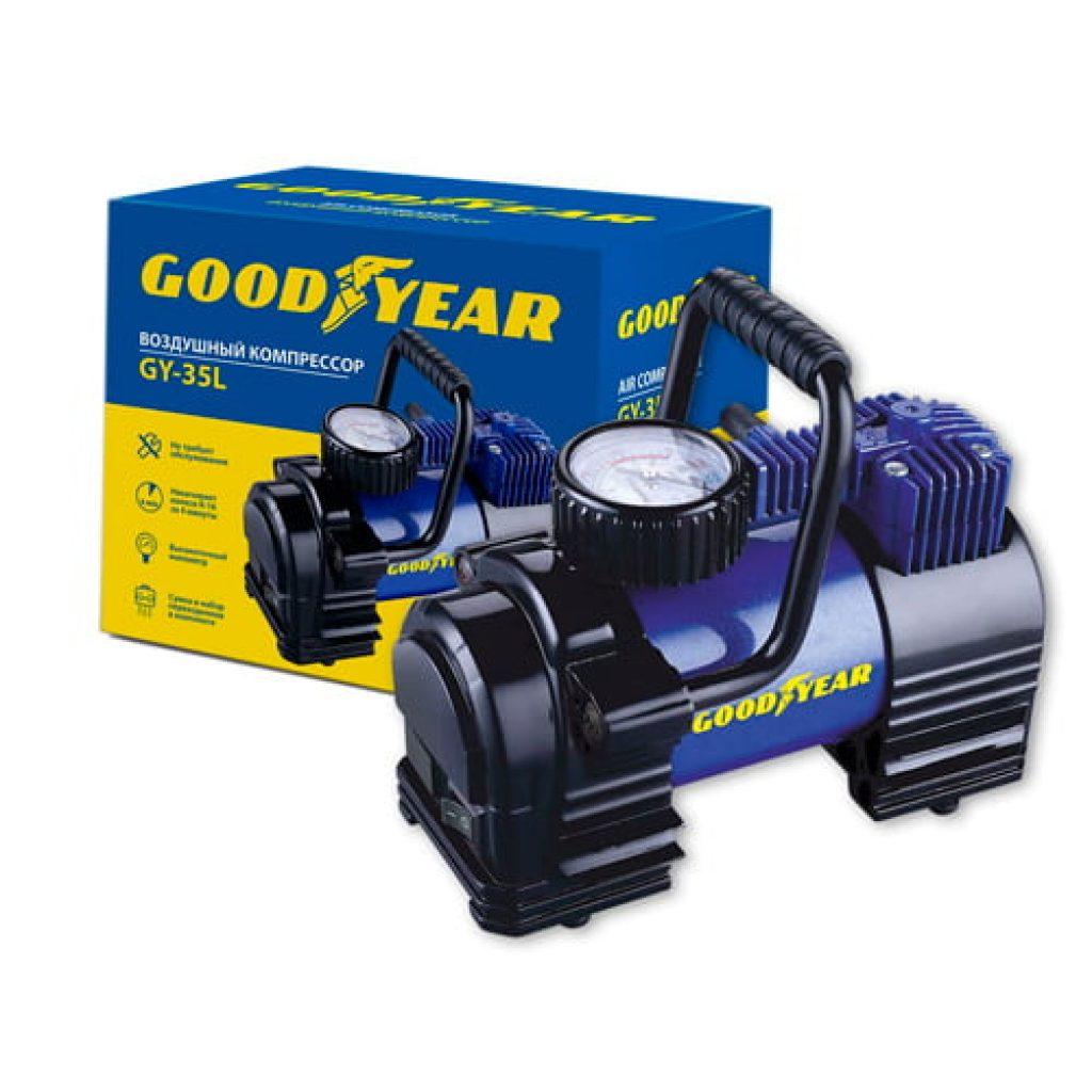 Автомобільний компресор GOODYEAR GY-35L LED - фото