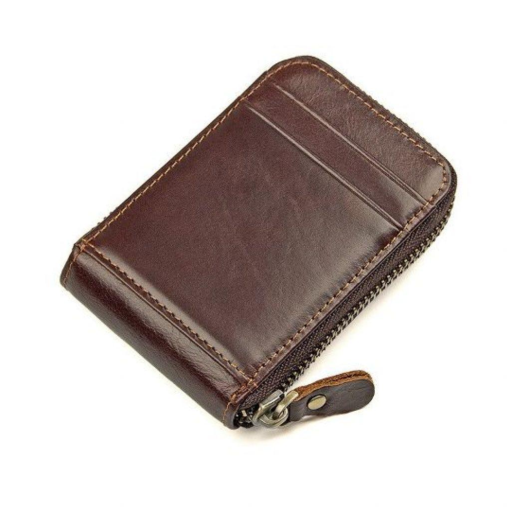RFID-гаманець з коров'ячої шкіри - фото