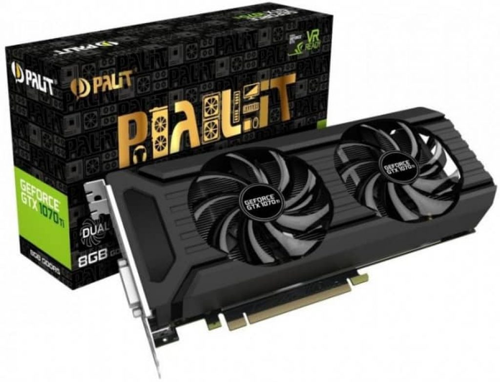 Дискретна відеокарта Palit GeForce GTX 1070 - фото