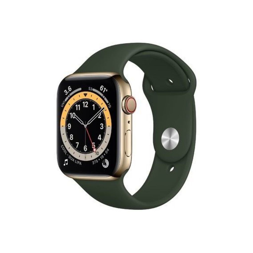 Apple Watch Series 6 44mm GPS+LTE Gold Stainless Steel Case with Sport Band - фото
