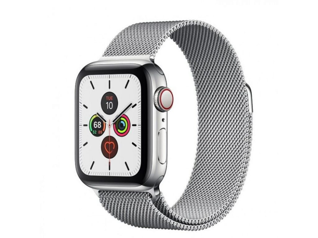 Apple Watch Series 6 GPS + Cellular 40mm Stainless Steel Case with Milanese Loop - фото